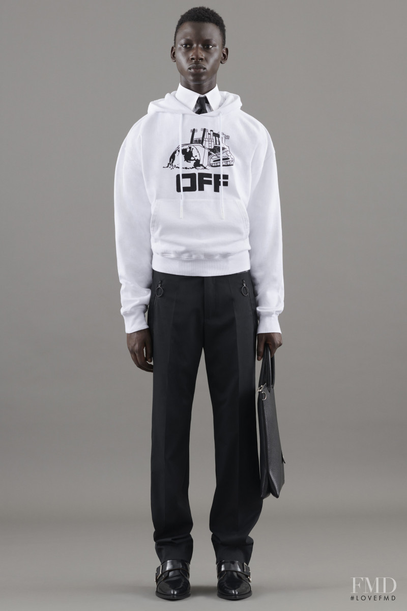 Tamsir Thiam featured in  the Off-White lookbook for Resort 2021