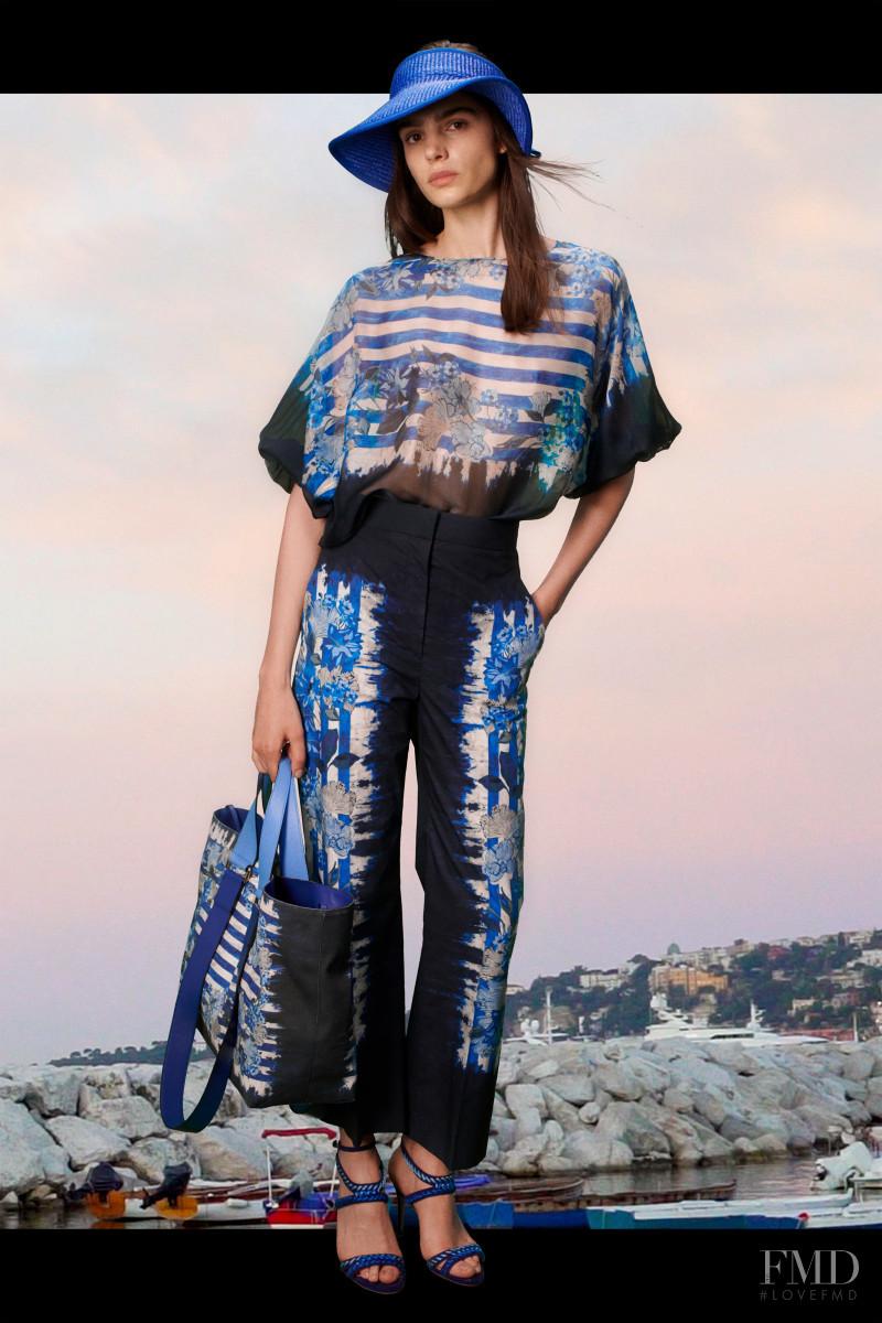 Matilde Buoso featured in  the Alberta Ferretti lookbook for Resort 2021