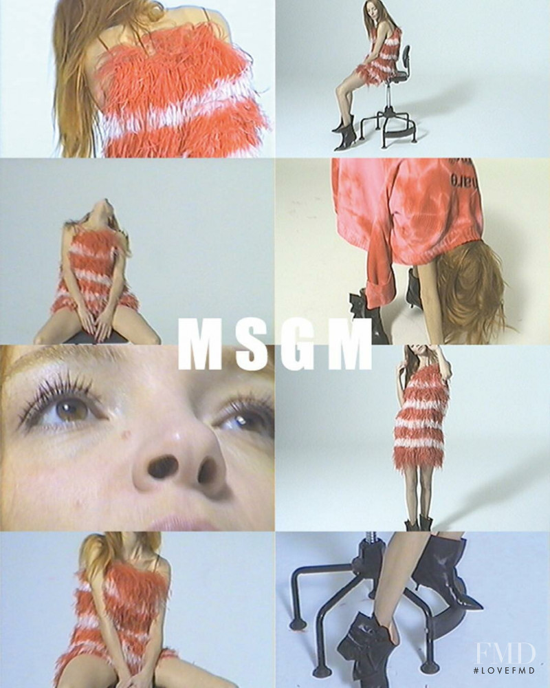 Mariacarla Boscono featured in  the MSGM advertisement for Spring/Summer 2019
