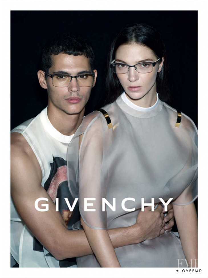 Mariacarla Boscono featured in  the Givenchy Eyewear advertisement for Spring/Summer 2013