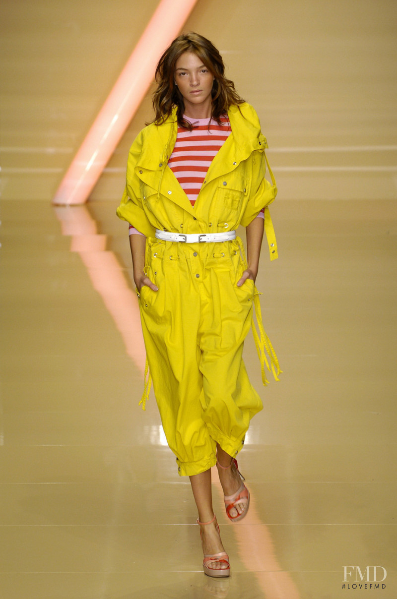 Mariacarla Boscono featured in  the byblos fashion show for Spring/Summer 2005