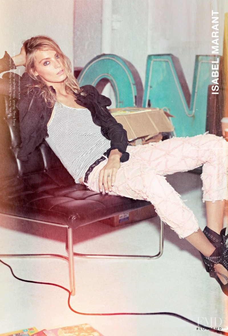 Daria Werbowy featured in  the Isabel Marant advertisement for Spring/Summer 2014