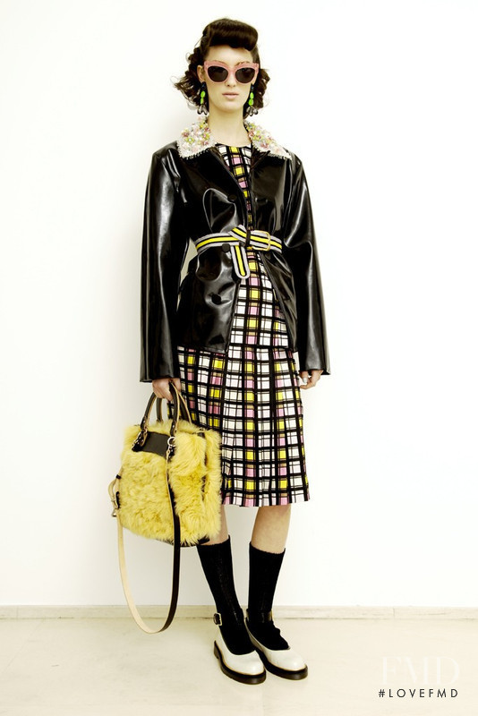 Marte Mei van Haaster featured in  the Marni lookbook for Pre-Fall 2012