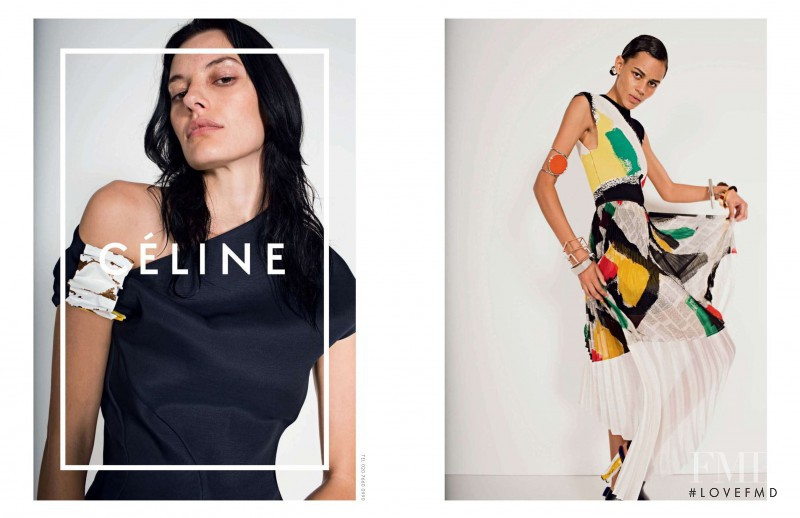 Amanda Murphy featured in  the Celine advertisement for Spring/Summer 2014