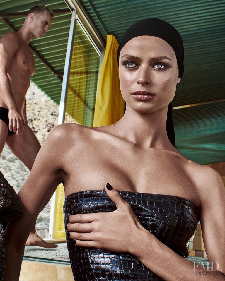 Birgit Kos featured in  the Tom Ford Beauty Soleil advertisement for Summer 2020