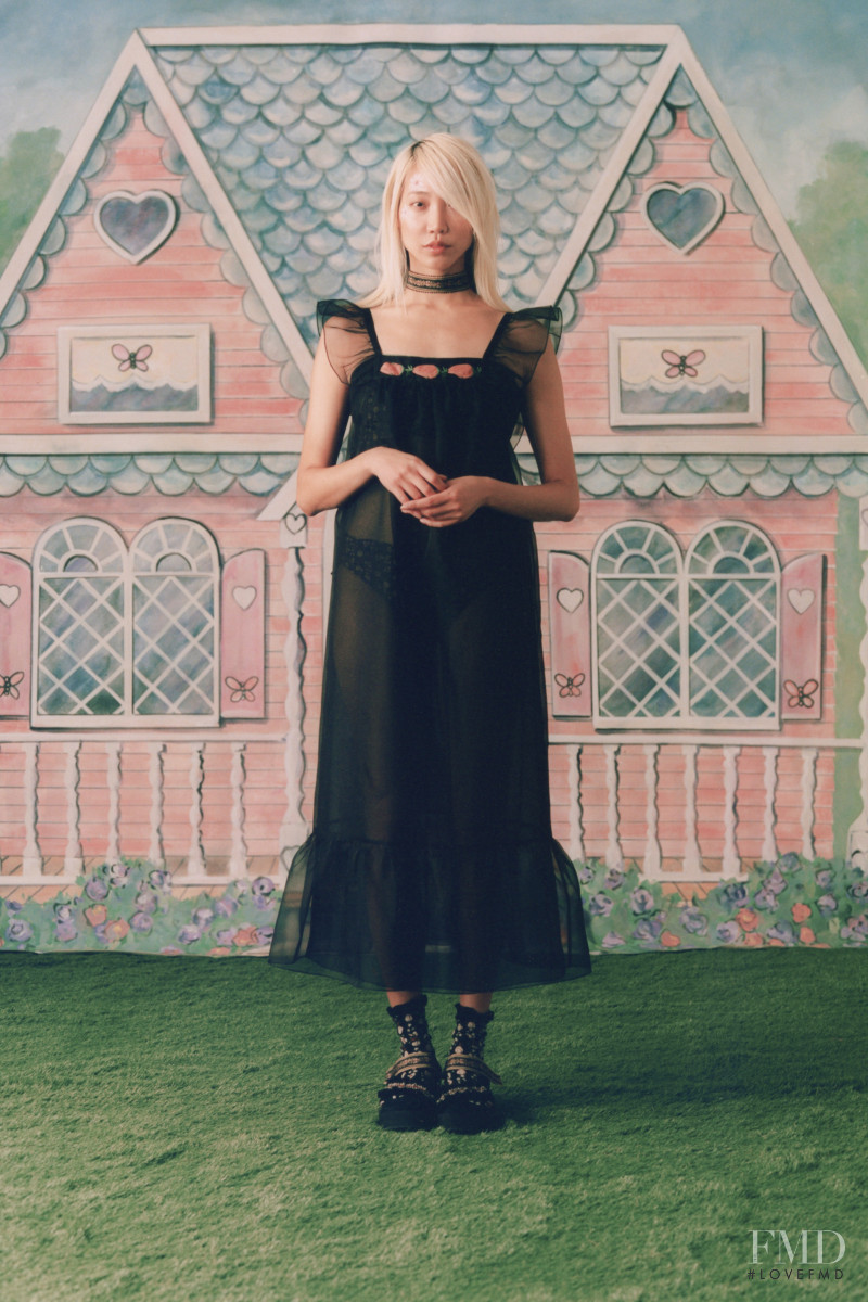 Soo Joo Park featured in  the Anna Sui lookbook for Spring/Summer 2021