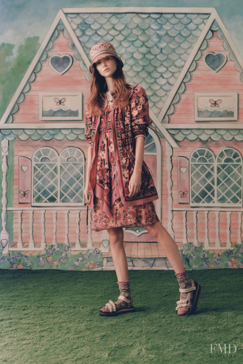 Sara Grace Wallerstedt featured in  the Anna Sui lookbook for Spring/Summer 2021