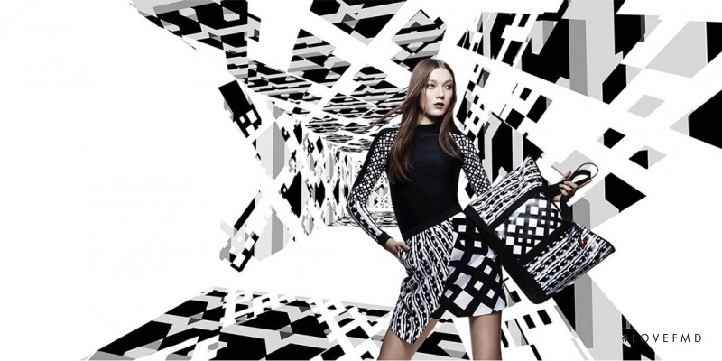 Yumi Lambert featured in  the Target by Peter Pilotto advertisement for Spring/Summer 2014