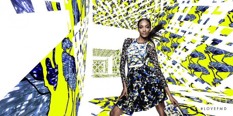 Jourdan Dunn featured in  the Target by Peter Pilotto advertisement for Spring/Summer 2014