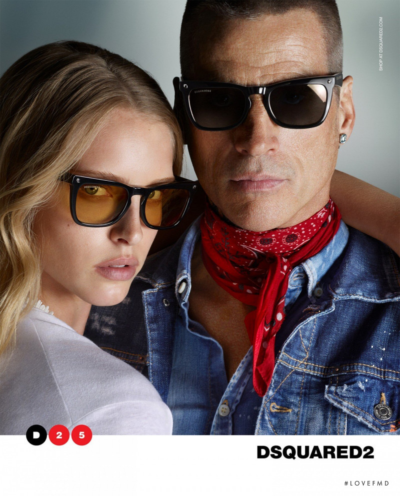 Abby Champion featured in  the DSquared2 Eyewear advertisement for Spring/Summer 2020