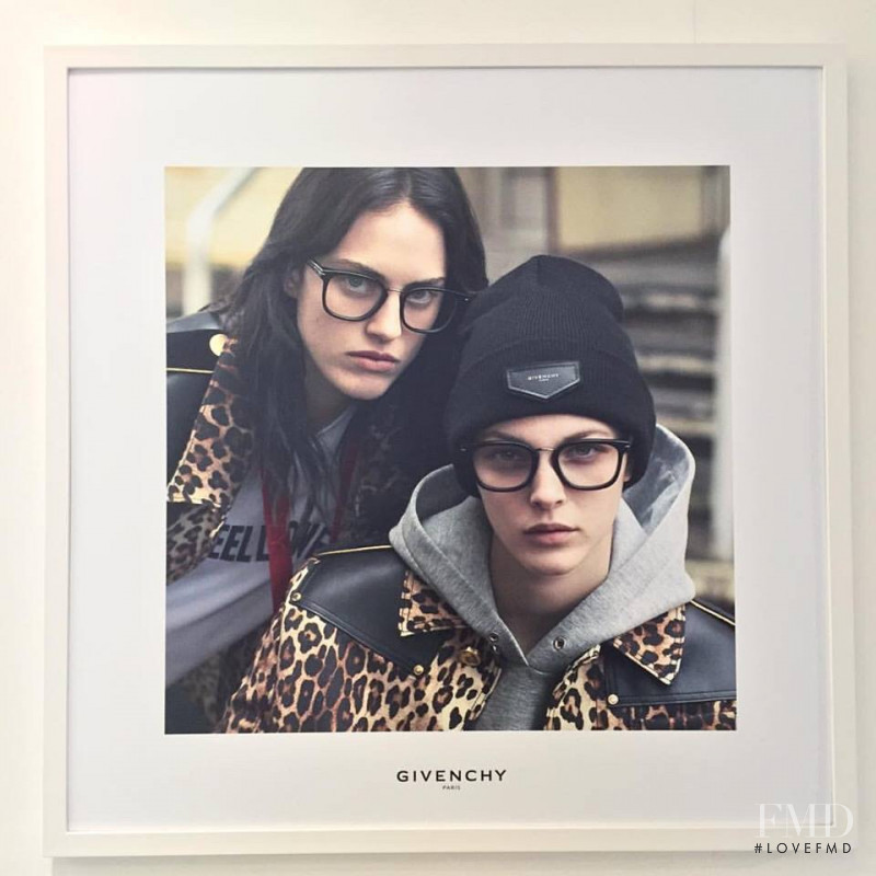 Vittoria Ceretti featured in  the Givenchy Eyewear advertisement for Autumn/Winter 2016