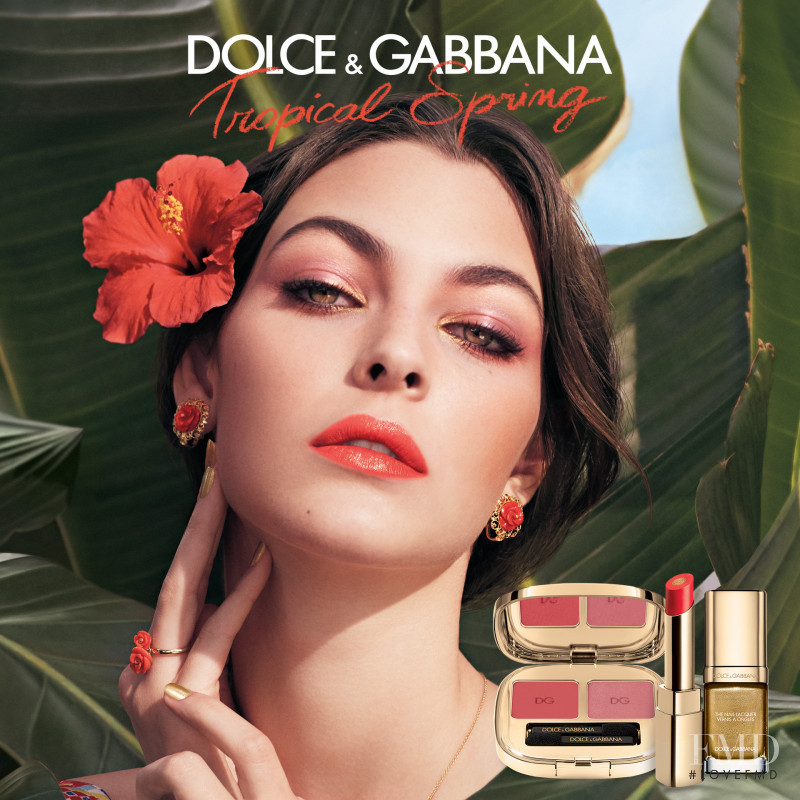 Vittoria Ceretti featured in  the Dolce & Gabbana Beauty Torpical Spring Makeup advertisement for Spring 2017