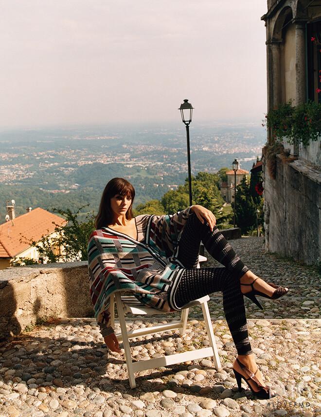 Vittoria Ceretti featured in  the Missoni advertisement for Autumn/Winter 2020