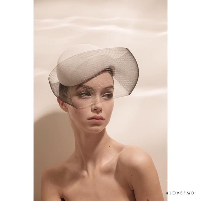 Josie Lane featured in  the Philip Treacy London lookbook for Spring/Summer 2019