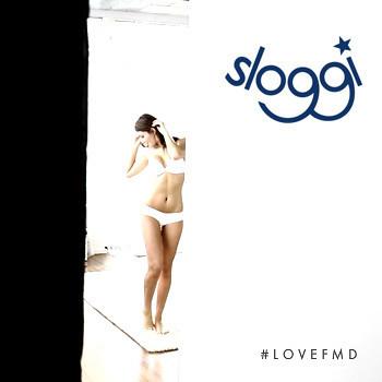 Simone Villas Boas featured in  the sloggi advertisement for Spring/Summer 2011