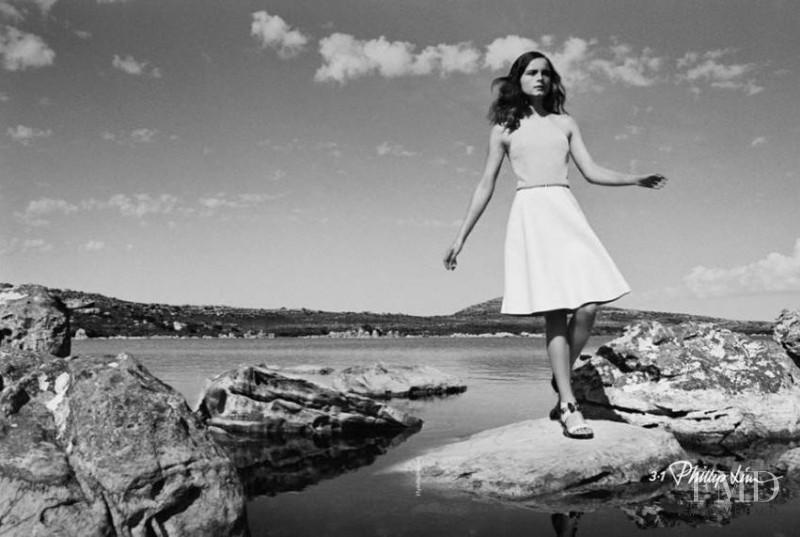Anna de Rijk featured in  the 3.1 Phillip Lim advertisement for Spring/Summer 2014