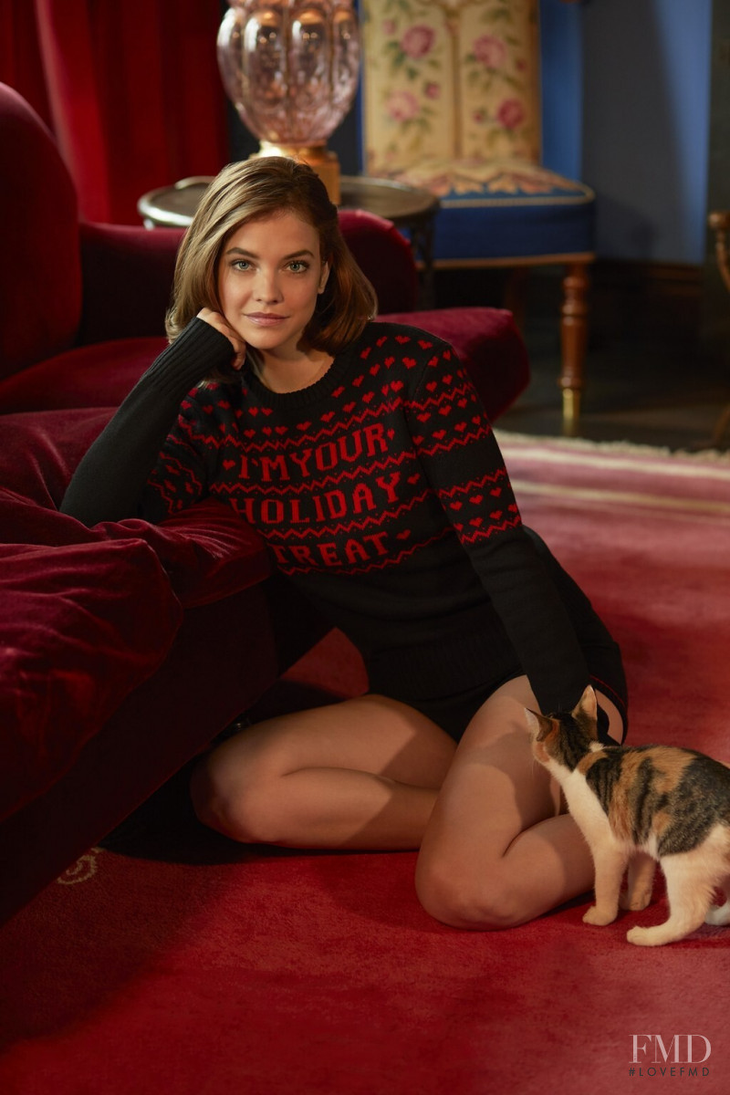 Barbara Palvin featured in  the Philosophy di Lorenzo Serafini Holiday Retreat Collection advertisement for Holiday 2019