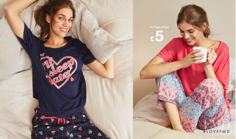 Samantha Gradoville featured in  the Matalan advertisement for Spring/Summer 2018