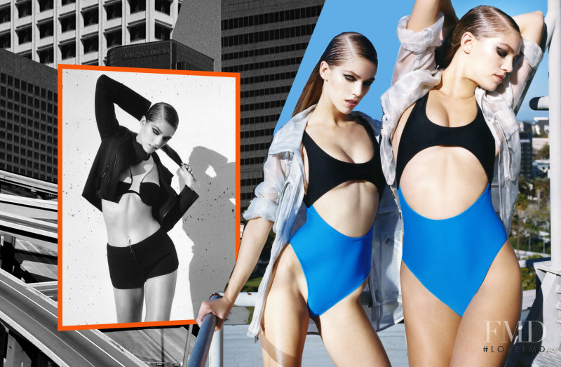 Samantha Gradoville featured in  the Nasty Gal Swim City lookbook for Summer 2014