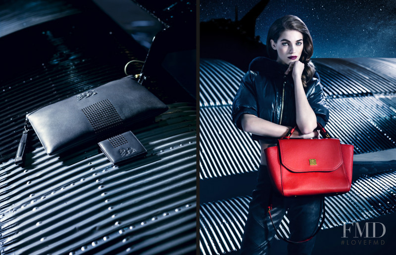 Samantha Gradoville featured in  the MCM advertisement for Autumn/Winter 2013