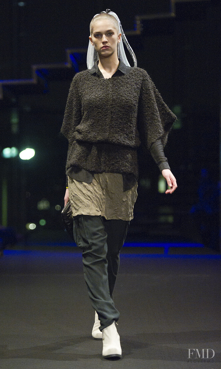 Samantha Gradoville featured in  the Cheap Monday fashion show for Autumn/Winter 2011