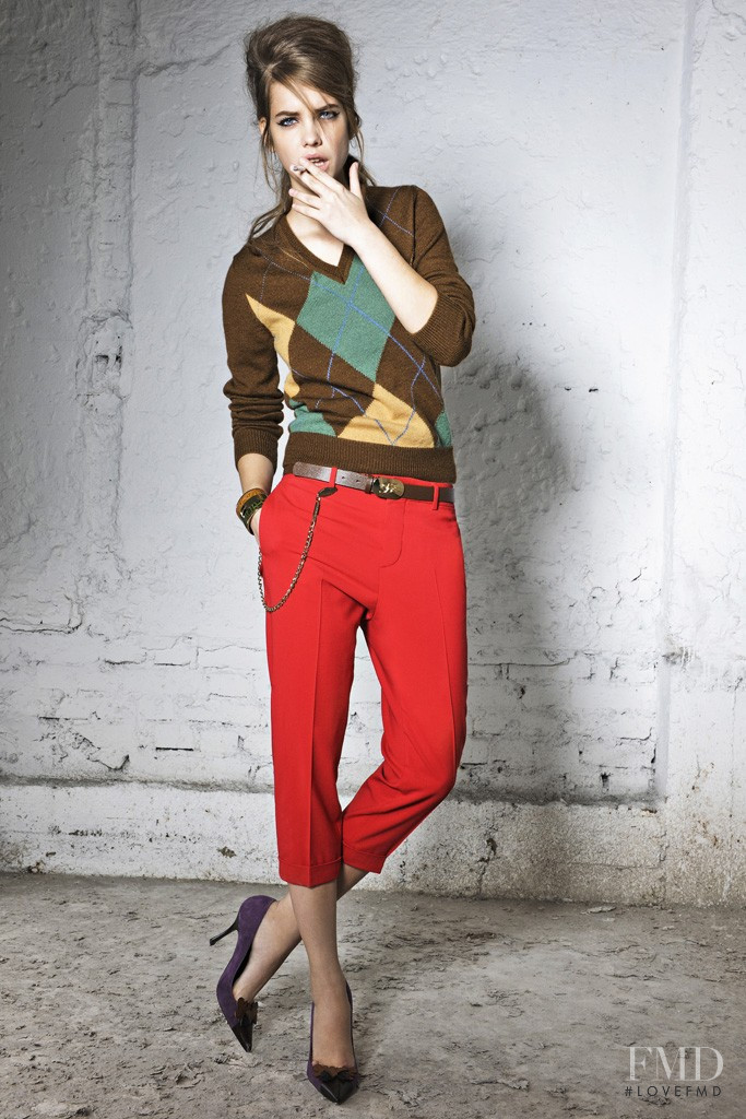 Barbara Palvin featured in  the DSquared2 lookbook for Pre-Fall 2012