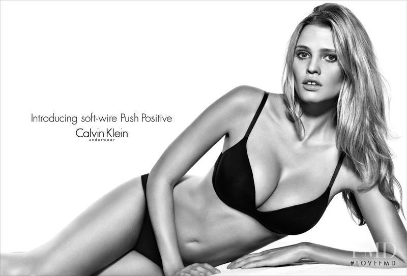 Lara Stone featured in  the Calvin Klein Underwear advertisement for Autumn/Winter 2013