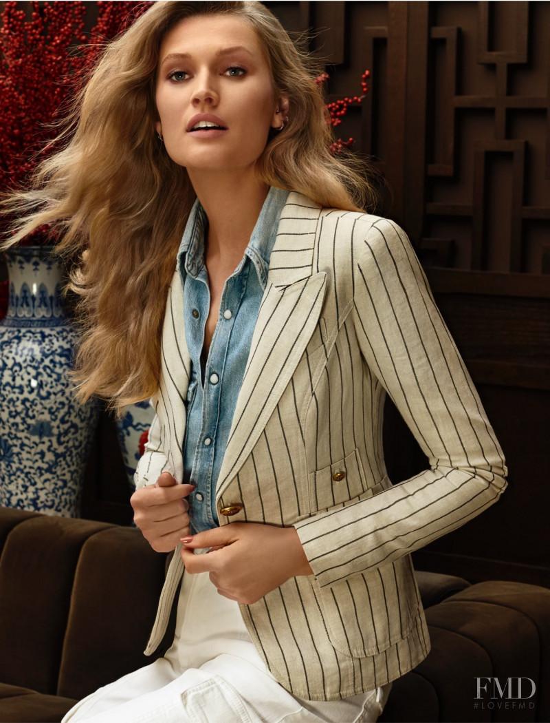 Toni Garrn featured in  the Holt Renfrew lookbook for Spring/Summer 2020