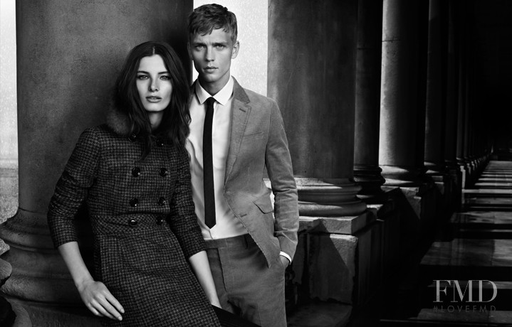 Ava Smith featured in  the Burberry Black Label advertisement for Autumn/Winter 2012