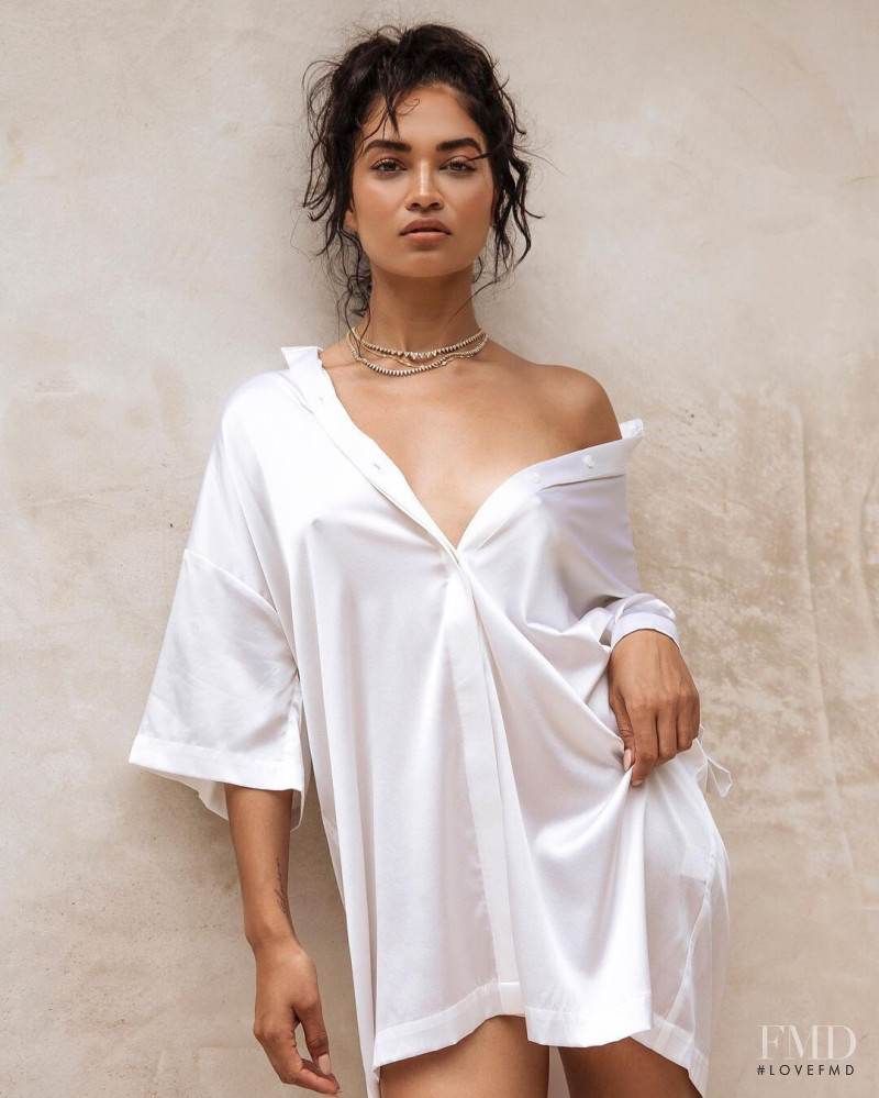Shanina Shaik featured in  the Johansen x Shanina Shaik lookbook for Spring/Summer 2019