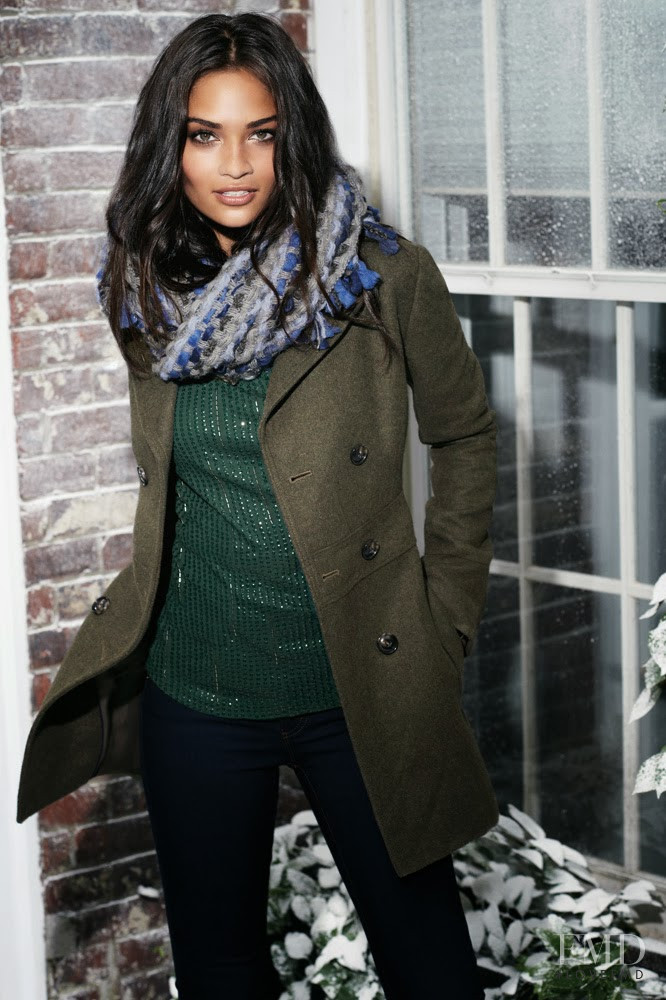 Shanina Shaik featured in  the LOFT by Ann Taylor advertisement for Holiday 2013