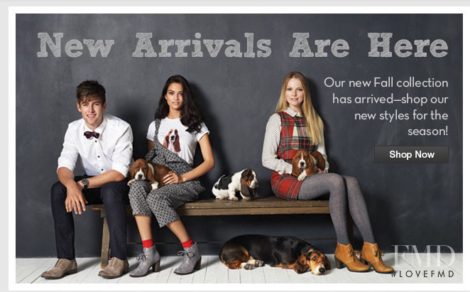 Shanina Shaik featured in  the Hush Puppies advertisement for Autumn/Winter 2012