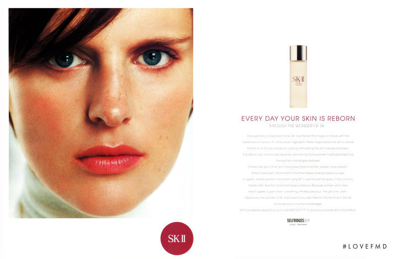 Stella Tennant featured in  the SK-II advertisement for Autumn/Winter 2000