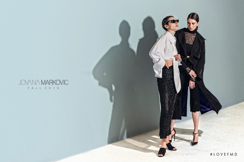 Ivana Stanojevic featured in  the Jovana Markovic advertisement for Autumn/Winter 2016