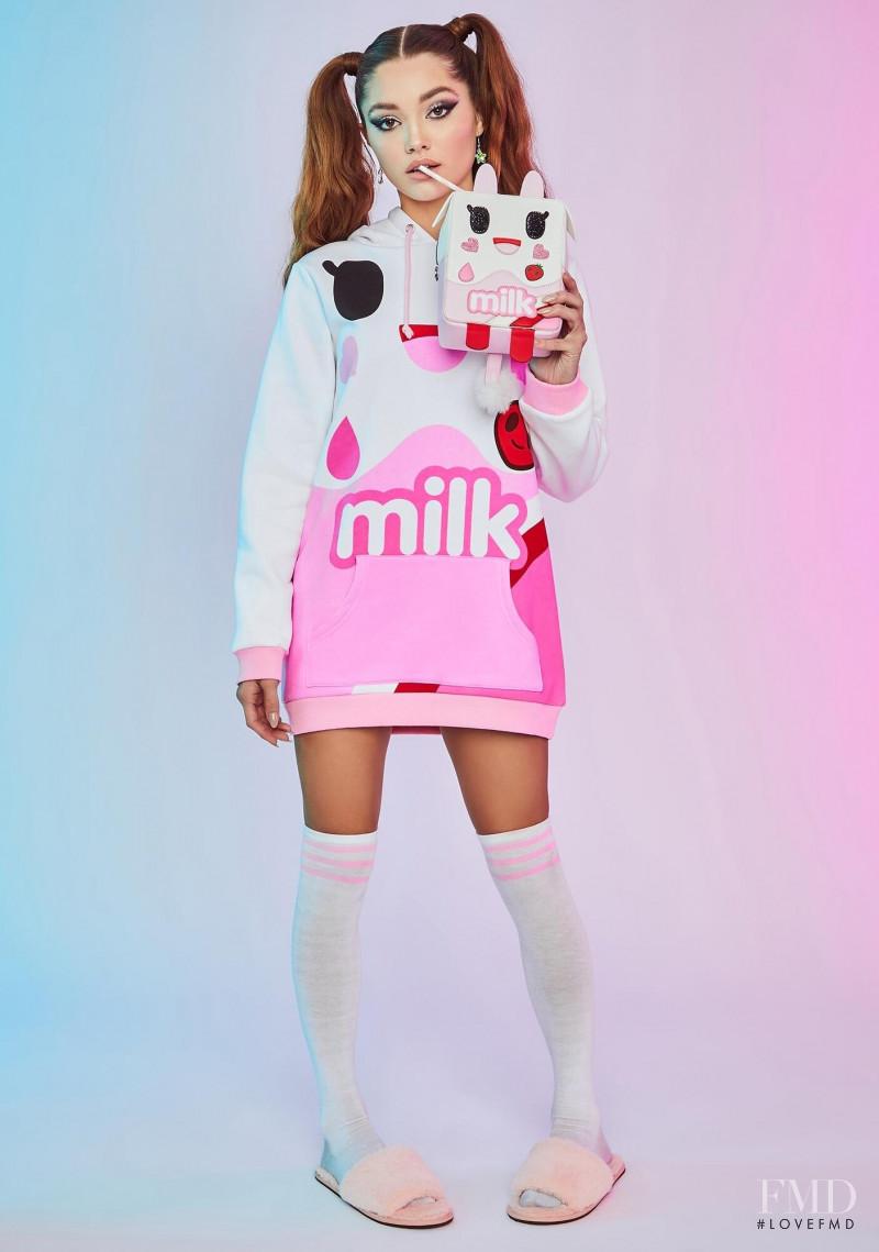 Madisyn Menchaca featured in  the Dolls Kill x TokiDoki catalogue for Autumn/Winter 2020