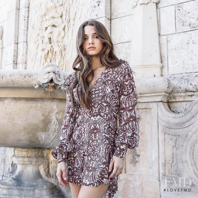 Madisyn Menchaca featured in  the Shop Saint Germain advertisement for Spring/Summer 2021