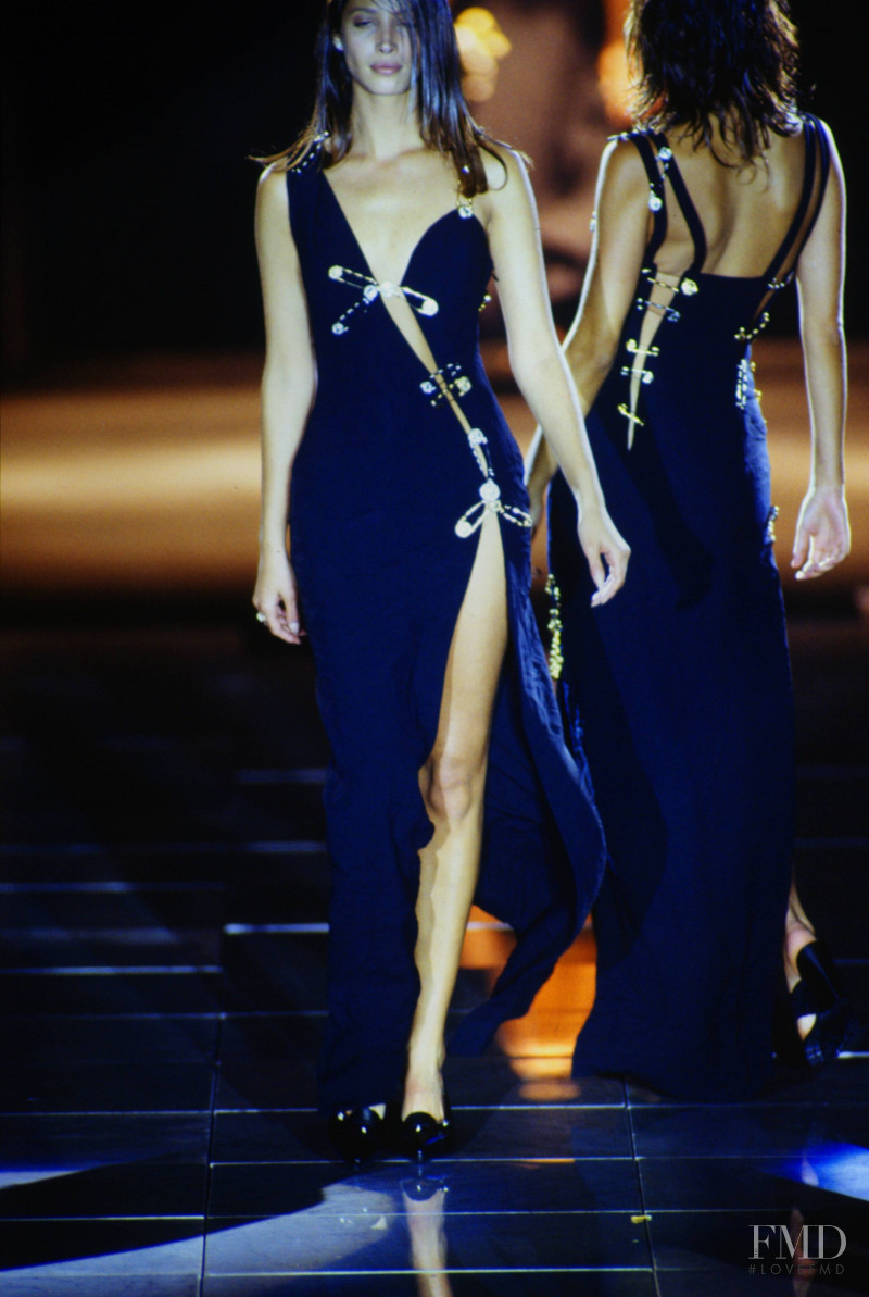 Christy Turlington featured in  the Versace fashion show for Spring/Summer 1994