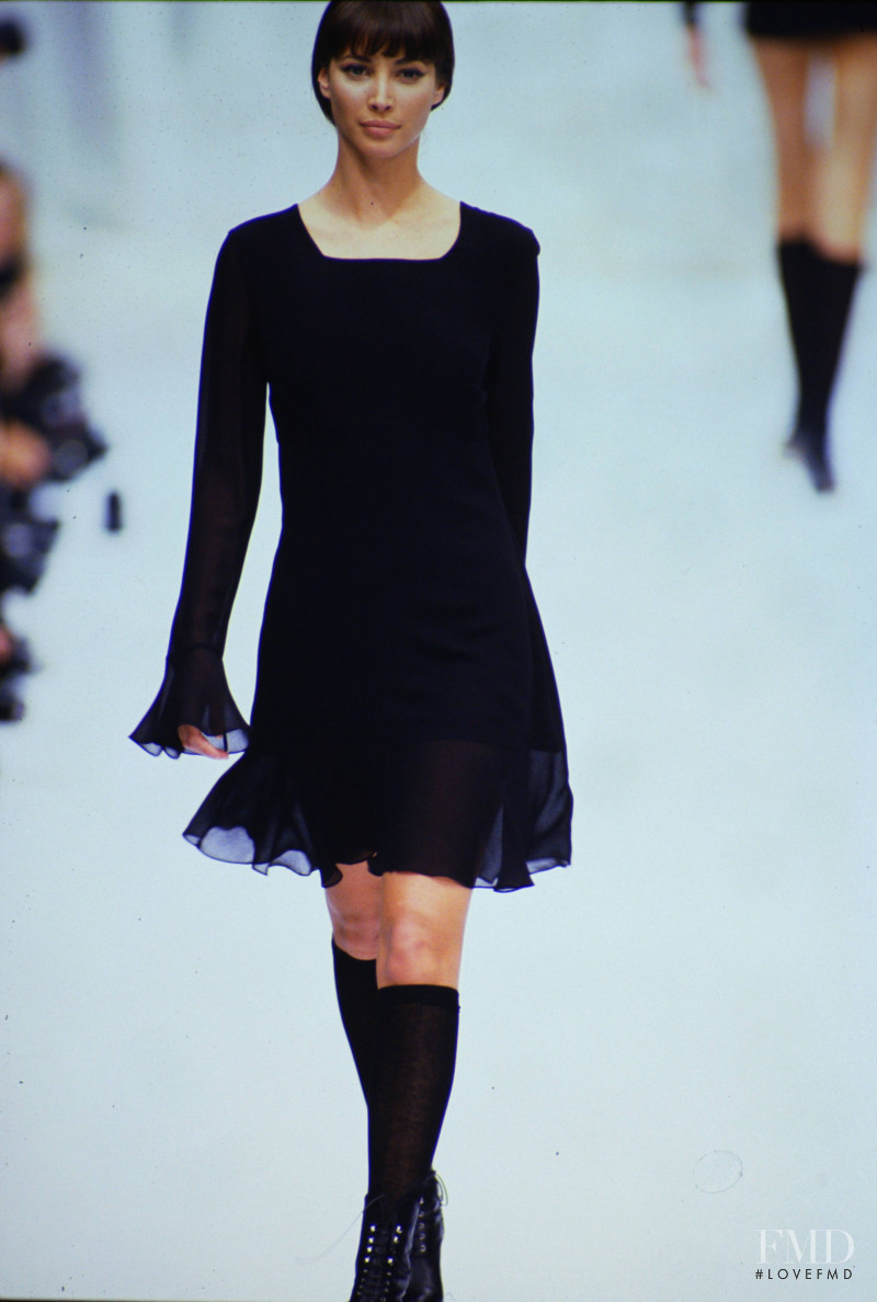 Christy Turlington featured in  the Complice by Genny fashion show for Autumn/Winter 1994