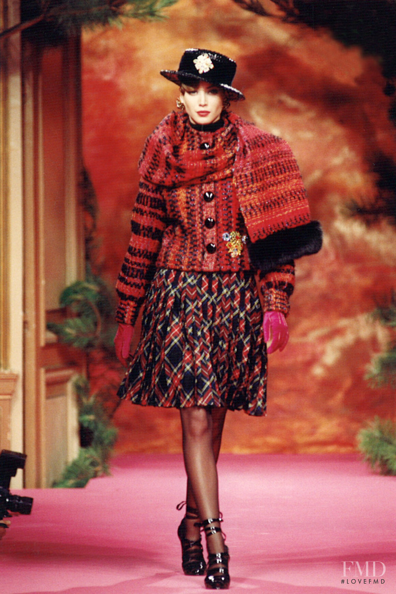 Christy Turlington featured in  the Christian Lacroix Couture fashion show for Autumn/Winter 1991