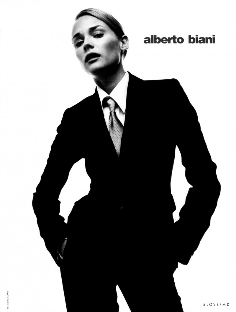 Diane Heidkruger featured in  the Alberto Biani advertisement for Autumn/Winter 1995