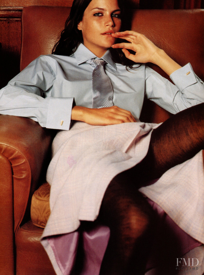 Missy Rayder featured in  the Anna Molinari advertisement for Autumn/Winter 2000