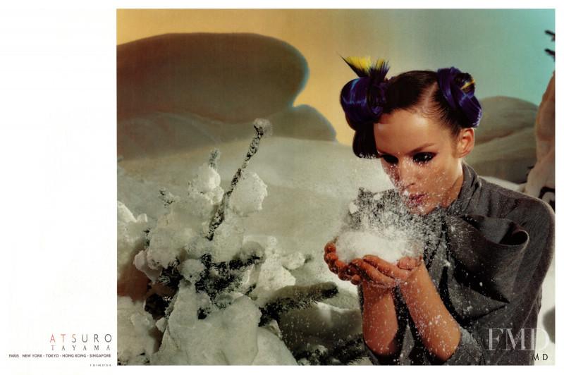 Vivien Solari featured in  the Atsuro Tayama advertisement for Autumn/Winter 2000