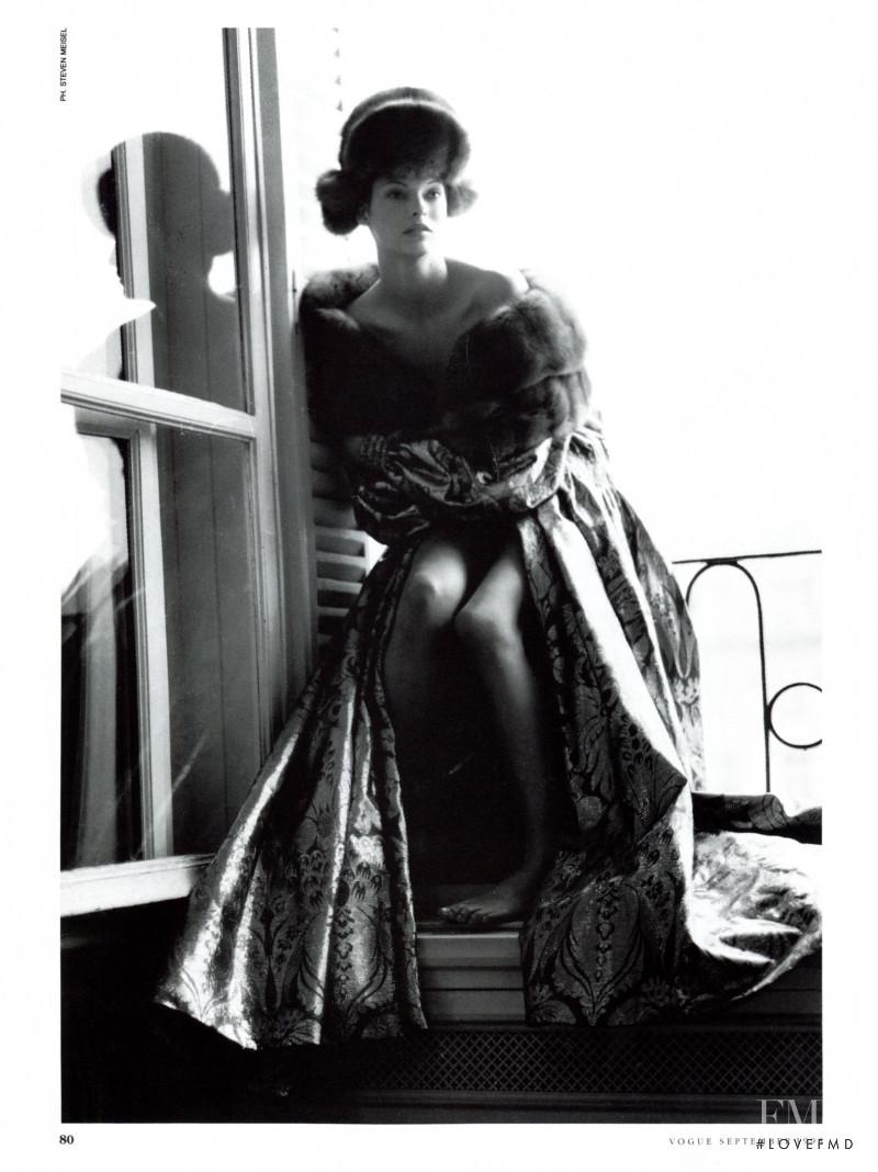 Linda Evangelista featured in  the Gianfranco Ferré advertisement for Autumn/Winter 1993