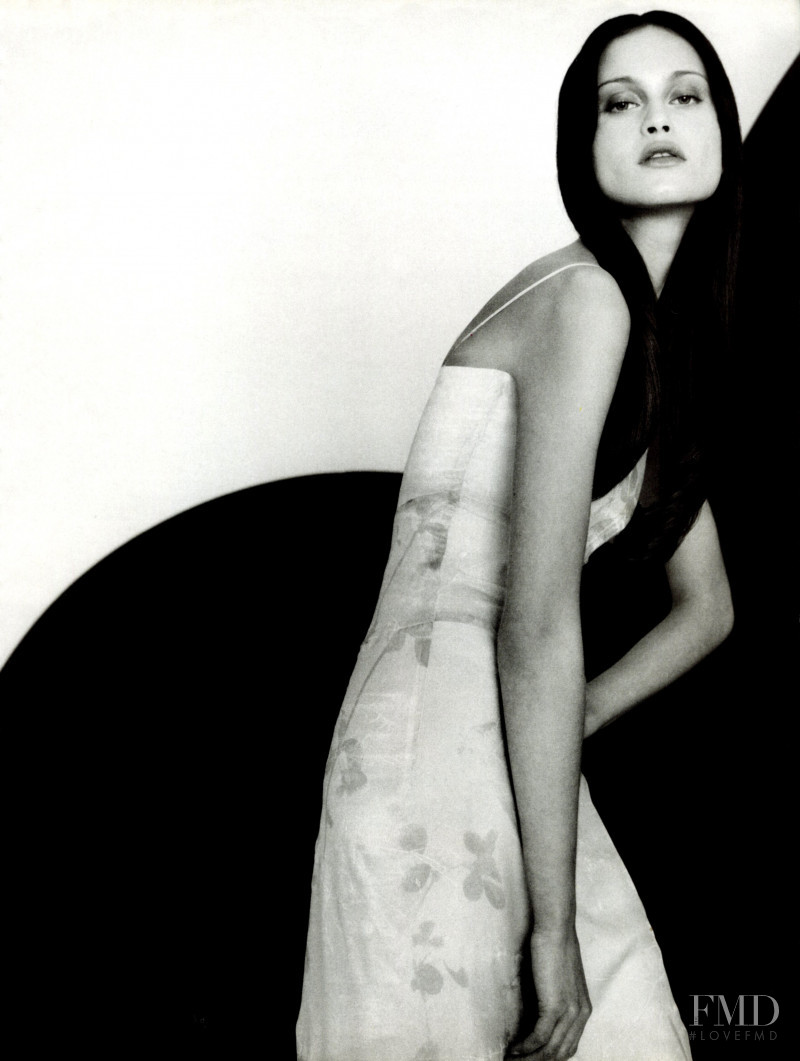 Natalia Semanova featured in  the Valentino Couture Miss V advertisement for Spring/Summer 1999