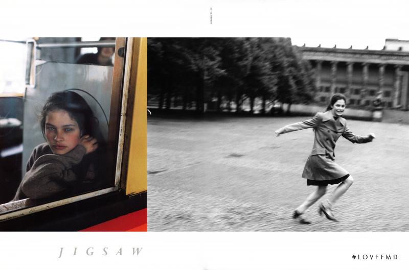 Lonneke Engel featured in  the Jigsaw advertisement for Autumn/Winter 1996