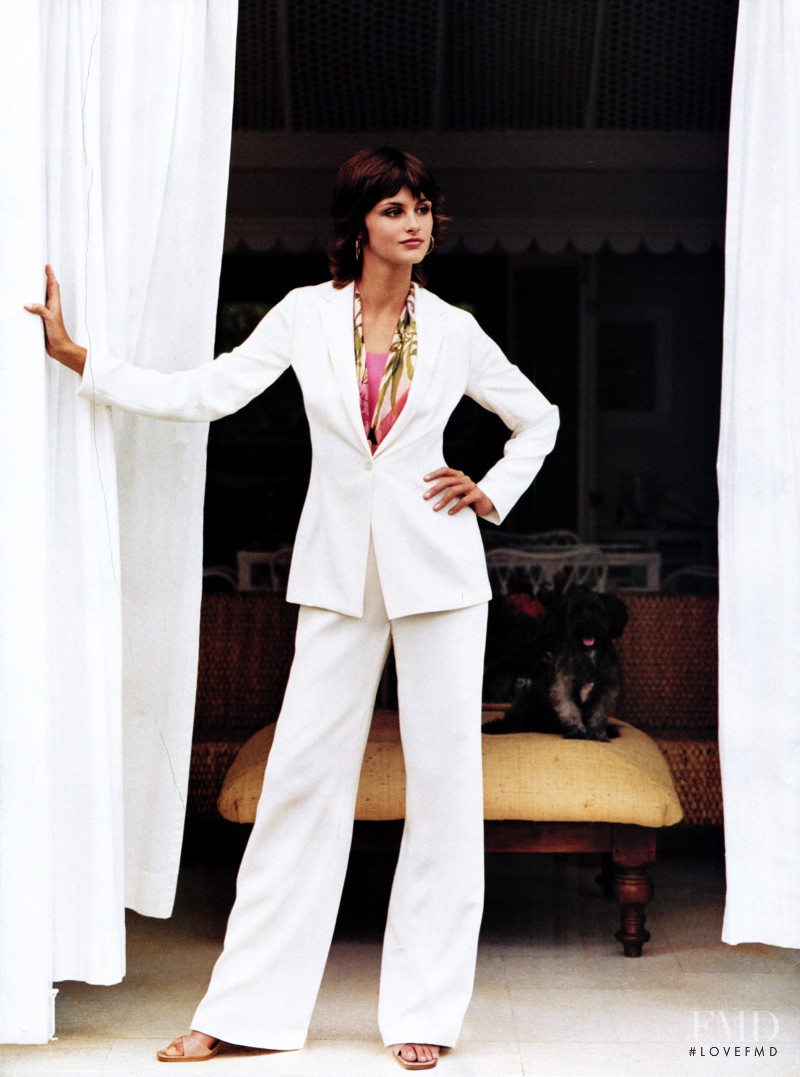 Trish Goff featured in  the Ann Taylor advertisement for Spring/Summer 2001