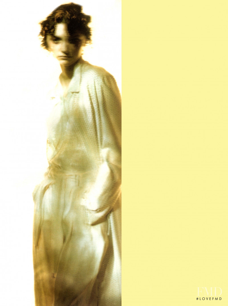 Kasia Pysiak featured in  the Krizia advertisement for Spring/Summer 1998