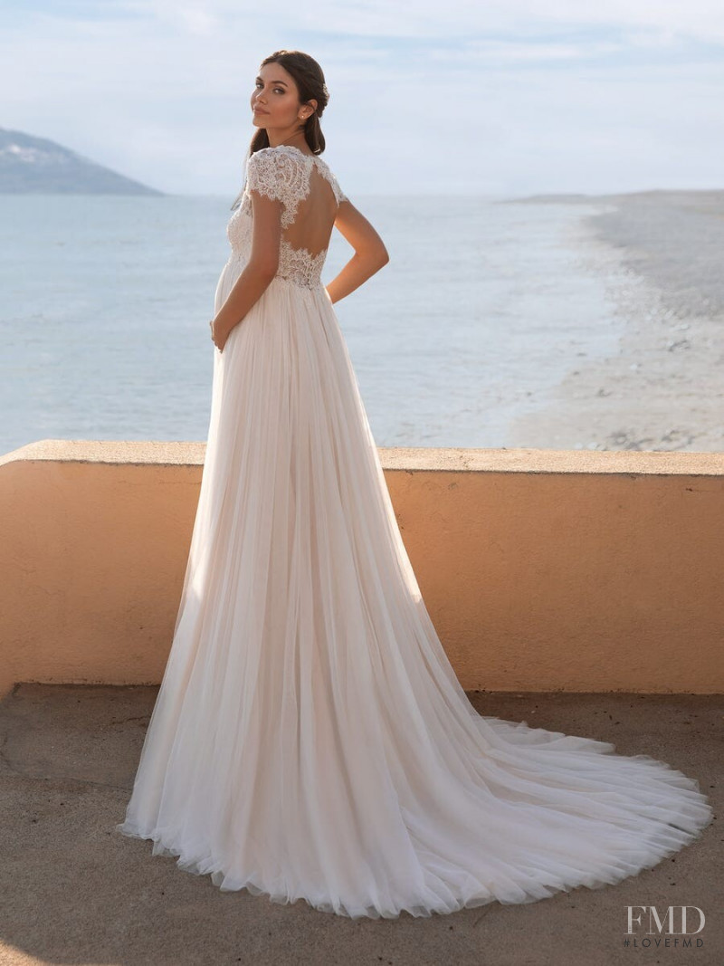 Victoria Bronova featured in  the Pronovias New Hollywood Glamour Collection lookbook for Autumn/Winter 2020