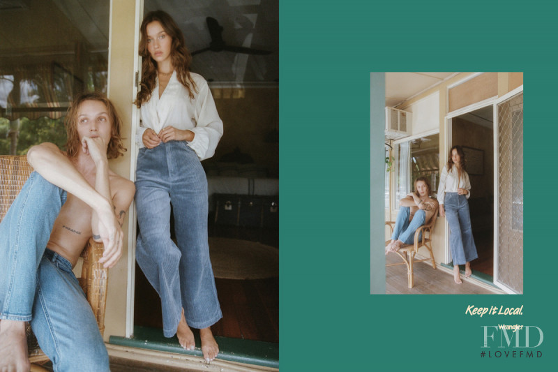 Isabelle Mathers featured in  the Wrangler advertisement for Spring/Summer 2021