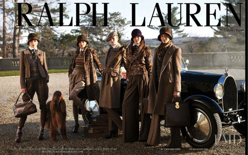 Andreea Diaconu featured in  the Ralph Lauren Collection advertisement for Autumn/Winter 2012